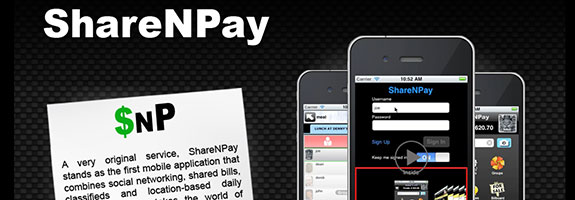 Custom HTML5 landing page for the ShareNPay iPhone app by BigWilliam