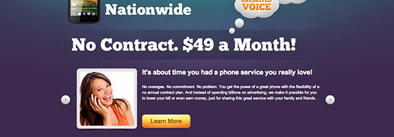 solavei cellphone service splash page for Starving Student Card by BigWilliam